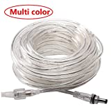 ECOWHO Extension Tube, 66ft 336 LED Rope Lights Outdoor Waterproof Plug in String Lights Dimmable 8 Modes for Bedroom, Tree, Patio, Roof (Multicolor)(NO Remote, NO Plug)
