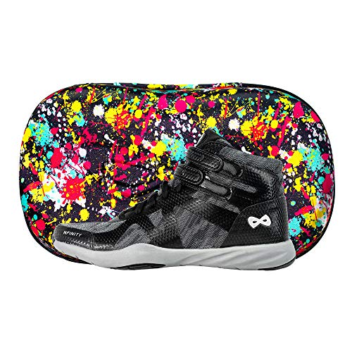 Nfinity Beast Mid-Top Cheer Shoe - All-Surface Cheerleading - High Ankle - Black A5.5