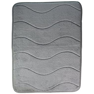 Memory Foam Bathroom Kid's Rug Mat, Extra Soft and Absorbent, Machine-Washable Non-Slip Bath rugs(Ivory, 24  x 17 )