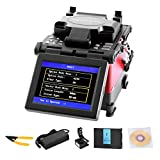 Mophorn Fusion Splicer Automatic Focus JW4108S FTTH Fiber Optic Fusion Splicer 5 Inch Digital LCD Screen Fusion Splicer Machine Fiber Cleaver Kit