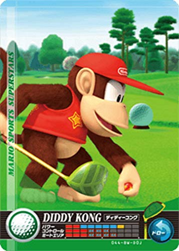 Nintendo Mario Sports Superstars Amiibo Card Golf Diddy Kong for Nintendo Switch, Wii U, and 3DS