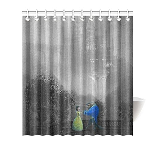 Disney Beauty And The Beast Shower Curtain W66