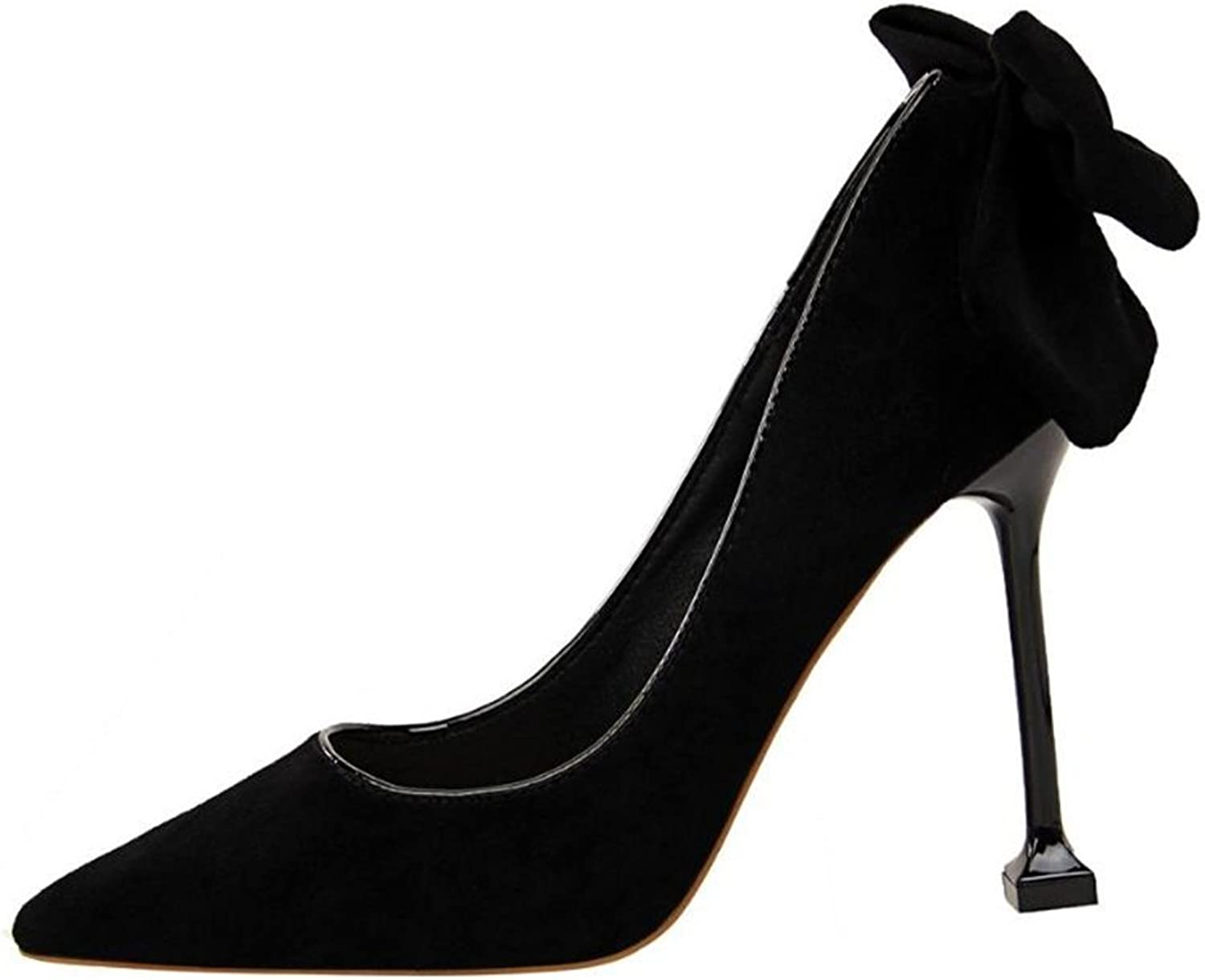 FORTUN Elegant Stiletto Women's Bow high Heels Pointed Tiptoe Professional shoes