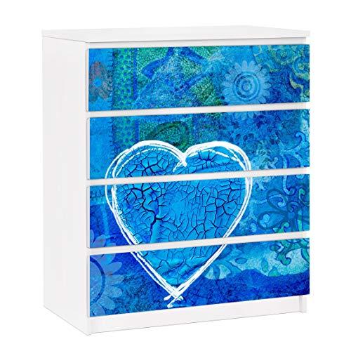Bilderwelten Möbelfolie für IKEA Malm Kommode Selbstklebende Folie Terra Azura 4X 20 x 80cm