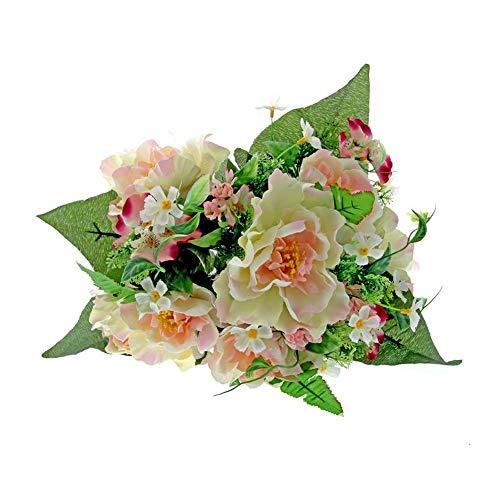 Floristrywarehouse Mélange de pivoines artificielles Rose 40 cm