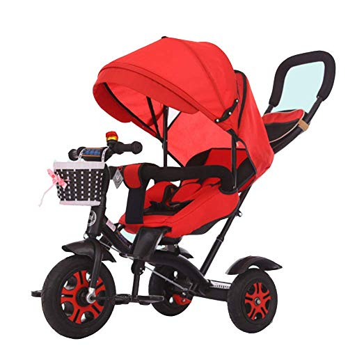 Review Of Zjnhl Children's Fun/Kids Tricycle Trike Stroller First Bike 4 In1 WiRemovable Push Handle...