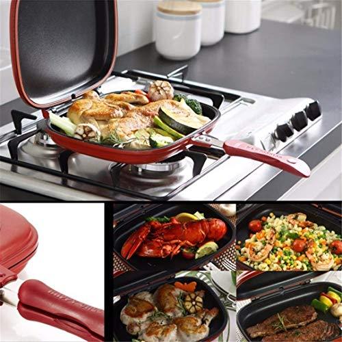 Professionelle japanische Doppelpfanne Doppelseitige tragbare Grillpfanne, Antihaft-Doppel-Omelettpfanne Flip Pan