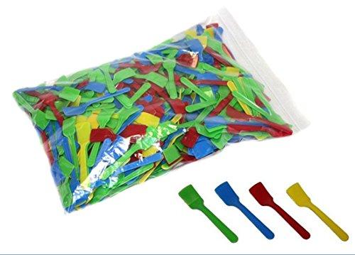 Eislöffelchen Kunststoff 8 cm - 500er Pack bunt gemischt