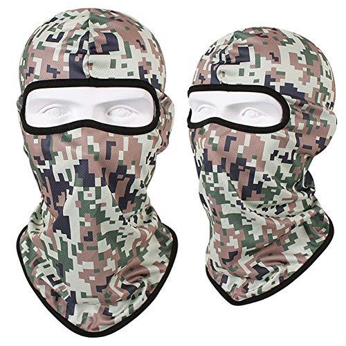 Outdoor Taktische Kopfbedeckung, Reiten Motorrad Tarnung Vollgesichtsmaske. Jagd Angeln Militärische Taktische Winddichte Sonnencreme Warme Kapuze,014