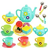 Tabu Toys World Tea Set Tea Party Pretend Playset for Kids, Teapot Play