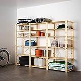 HEJNE 3 secciones/estantes 230x50x171 cm madera blanda