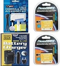 2X LB-060 Battery + Charger for Kodak PIXPRO AZ522, AZ521, AZ501, AZ361, AZ362,