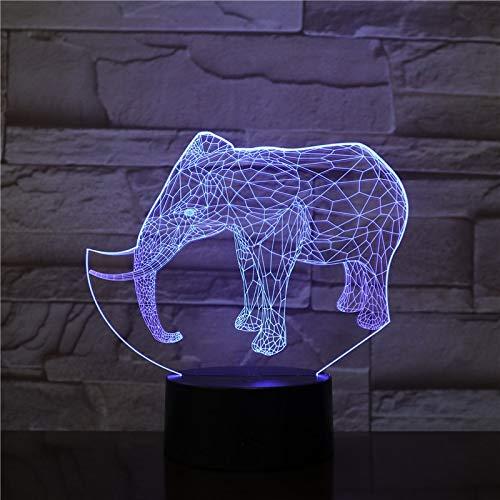 Cambio de Color de Diapositiva en Forma de Elefante Interruptor táctil luz de Noche lámpara de Mesa de acrílico lámpara de atmósfera