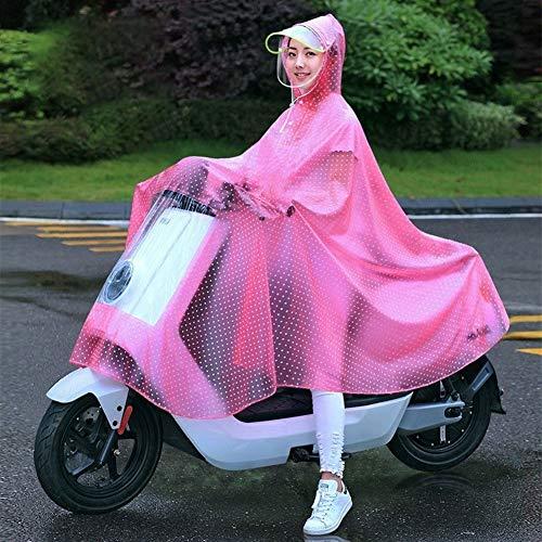 GLQ Moto Électrique Raincoat Simple Femme Femme Adulte Batterie Vélo Full Body Fashion B Dédié Poncho (Color : C, Size : XXXXL)