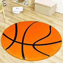 3D Printed Ball Carpet Flannel Round Rugs Moisture-Proof Floor Cushion Living Room Corridor Door Mat,3,120cm