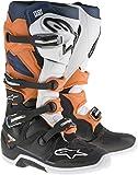 Alpinestars Men's Tech 7 Enduro Boots (Black/Orange/Blue/White, Size 7)