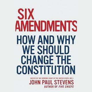 Six Amendments audiobook cover art