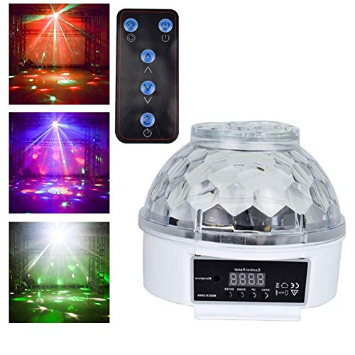 Éclairage de scène- Disco Ball Party Lights Avec Télécommande, Sound Activated LED Strobe Dance Lampe 7 Couleur for Fête D'anniversaire À La Maison Karaoké Fêtes De Mariage Bar Étape - 2ème Génération