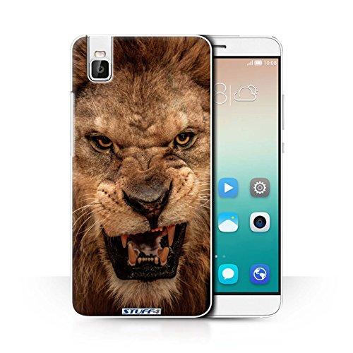 Hülle Für Huawei Honor 7i/ShotX Wilde Tiere Löwe Design Transparent Ultra Dünn Klar Hart Schutz Handyhülle Case