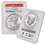 2021 (S) 1 oz American Silver Eagle MS-70 (Struck at San Francisco Mint - T-1 - Covid Emergency Issue - First Strike) by CoinFolio $1 MS70 PCGS
