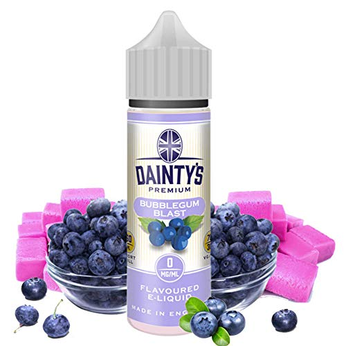 Daintys - Bubblegum Blast - Eco Vape E-Liquid   50ML   Sin Nicotina: 0MG   70VG/30PG   E-Liquido para Cigarrillos Electronicos   Vaper   E Cigarette   E Shisha