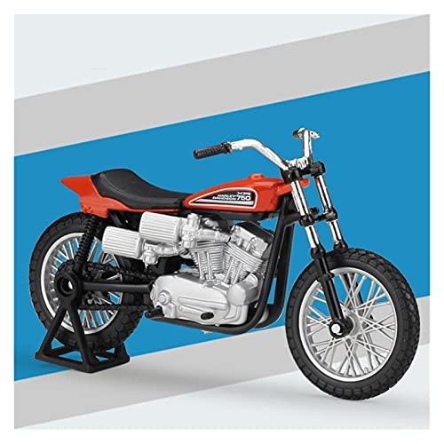 Boutique 1:18 Motocicleta Aleación Simulación En Miniatura para Harley 1972 XR750 Modelo Bicicleta Carreras Colección Adultos Regalo Coche Juguete