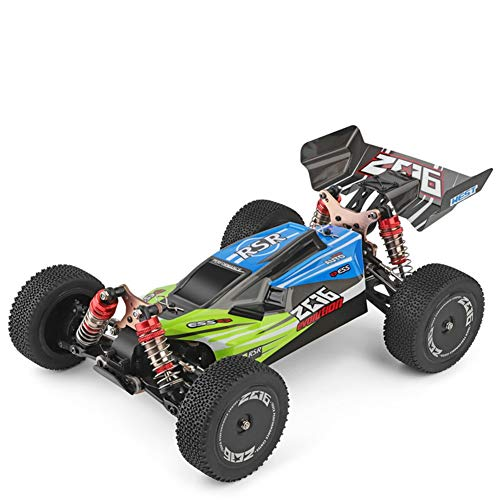 BeesClover WL-Toys 144001 RTR 2.4GHz RC 1/14 Scala Drift Racing Car 4WD Metal Chassis Albero Cuscinetto a Sfera Gear HYD-raulic Shock Absober conveniente Vita Green