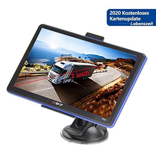 GPS Navi Navigationsgeräte für Auto 7 Zoll Touchscreen Navigationssystem Mehrsprachig 8GB 256MB GPS Navigation für LKW PKW KFZ 2020 EU&UK Lebenszeit Kostenloses Kartenupdate