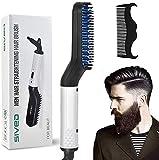 Bartglätter Kamm für Männer - Elektrische schnelle Haarglättung Pinsel Multifunktionale Lockenwickler Kamm (EU)