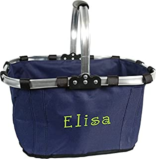 Personalized Monogrammed Embroidered Market Tote - Navy