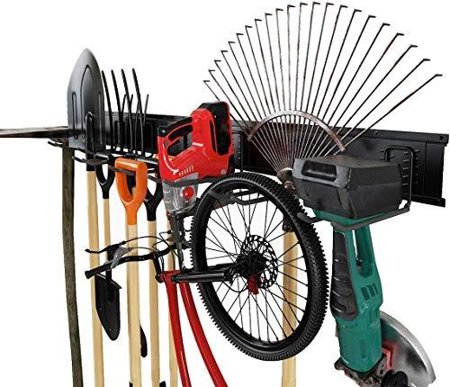 Gancho para Colgador de Garaje, Gancho Pared Soportes para Colgar Bicicleta Escaleras Herramientas Organizador Almacén Jardín almacenamiento de garaje Metal resistente