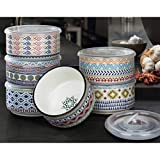 Signature Microwaveable Bowls with lids 6 Count...
