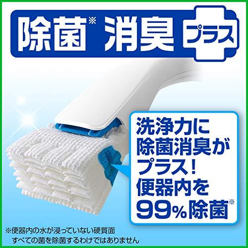 スクラビングバブルトイレ洗剤流せるトイレブラシ除菌消臭プラス本体ハンドル1本+付替用4個(ホワイトブロッサムの香り)セット
