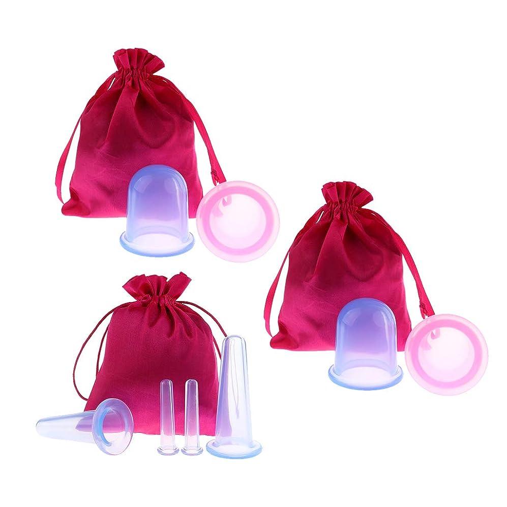 礼拝シェフ申請中Baoblaze 8個 真空カッピングボディカップ シリコーン 美容院 スパ リラックス