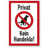 Kein Hundeklo/Keine Hundetoilette - Kunststoff Schild Hunde kacken verboten thumbnail