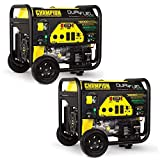Duel fuel capability gives you the option to run gasoline or propane Electric start with an easy toggle switch and battery Intelligauge helps you keep track of voltage, frequency, and run time hours Low oil shutoff sensor Built in surge protector to ...