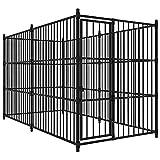 vidaXL Chenil d'Extérieur pour Chiens 300x150x185 cm Enclos Niche Cage Chiots