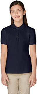 French Toast Juniors' Short Sleeve Pique Polo