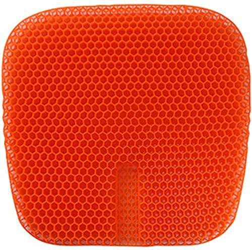 WDSZXH Cojín de asiento de gel, amortiguador de asiento fresco transpirable, diseño de cojines de gel de panal con cubierta antideslizante Cojín de asiento de relífero para el hogar de la silla de ofi