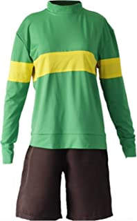 Tale Sans Funny Halloween Cosplay Costume Frisk Chara Green Blue Set Custom