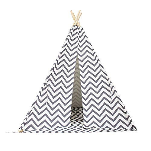 Liergou Childrensplay Tent Teepee For Kids Children Play Tent For Indoor And Outdoor Games Gift for Kids (Color : Ripple, Size : ONE SIZE)