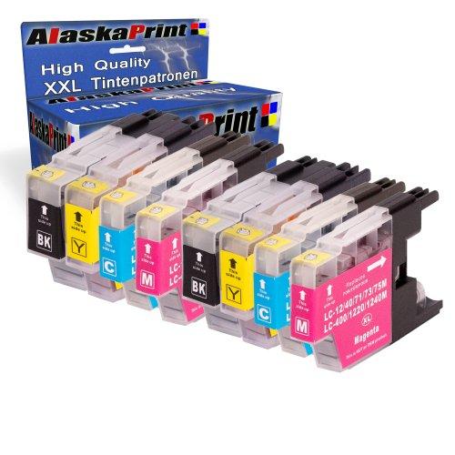 Premium 8er Set Druckerpatronen Kompatibel für Brother LC 1220 XL Patronen (Schwarz, Cyan, Magenta, Gelb) 8xLC-1220-Brother