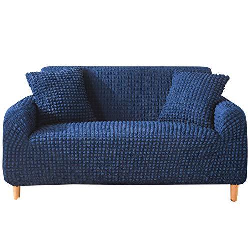 NOBCE Funda de sofá Funda de sofá elástica para Sala de Estar Sofá de Esquina seccional Moderno Funda de sillón Funda de sofá Azul Marino 190-230CM