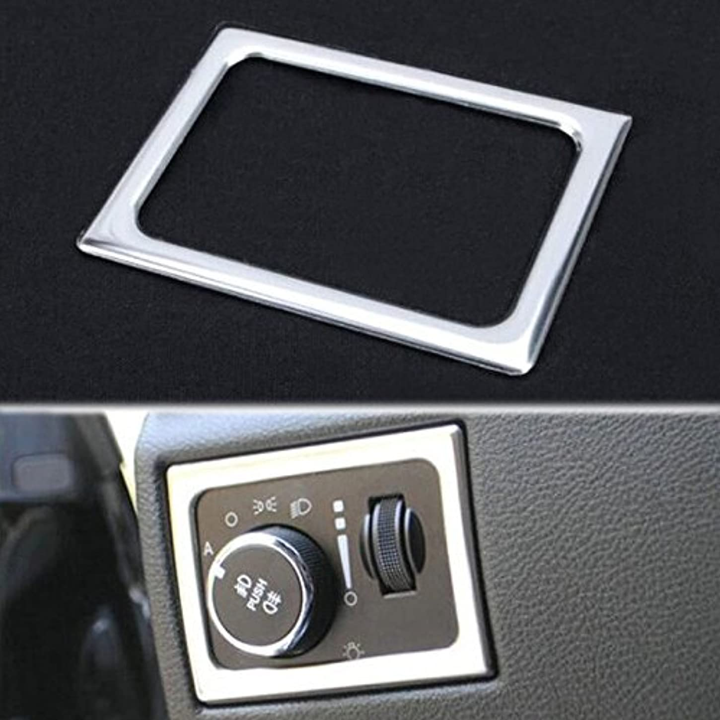 洞察力のある世論調査トランスミッションJicorzo - For Jeep Grand Cherokee 2011-2016 Front Headlight Lamp Switch Adjust Frame Cover Trim Car Styling Interior Decoration Moldings