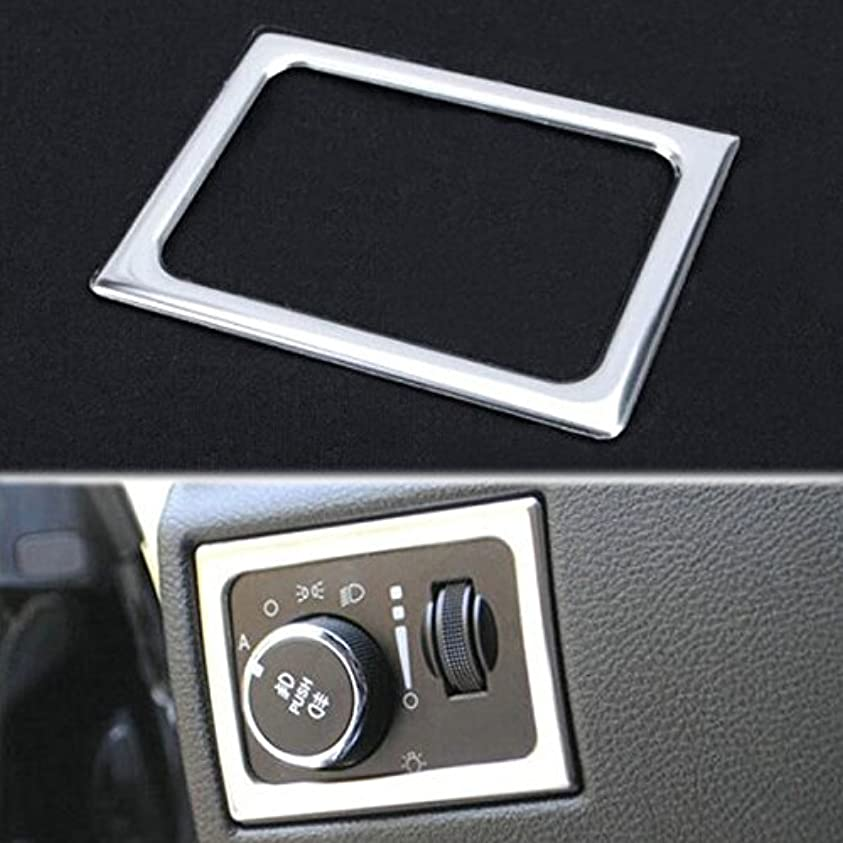 カーフ偽肘Jicorzo - For Jeep Grand Cherokee 2011-2016 Front Headlight Lamp Switch Adjust Frame Cover Trim Car Styling Interior Decoration Moldings