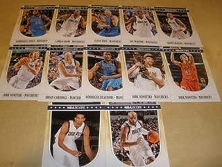 2011-12 Panini NBA Hoops Dallas Mavericks Team Set - NBA Champions (11 Cards) 3 Dirk Nowitzki, Jason Kidd, Lamar Odom, Vince Carter, Shawn Marion & more