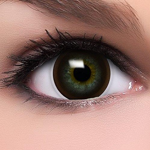 Circle Lenses braune Choco Brown ohne Stärke + Behälter I 15mm I weich I 3 Monate anwendbar