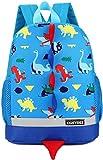 Zaino per bambini BETOY Zainetto Asilo Infanzia Dinosauro Animal Scuola borsa per Bambini Carino Primario Piccola Asilo Nido PreSchool Ragazzi o Ragazze(Azzurro)