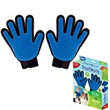 True Touch Five Finger Deshedding Glove- Gentle Grooming Great Cats & Dogs with Long Or Short Fur-...