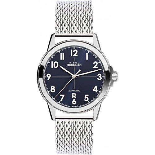 Orologio da uomo Michel Herbelin - 1650/25B - Automatico - AMBASSADE - Date...